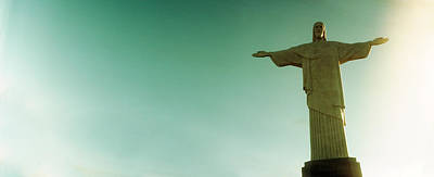 Christ The Redeemer Photograph - Low Angle View Of Christ The Redeemer by Panoramic Images