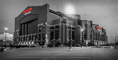 Sky Photograph - Lucas Oil Stadium by Alexey Stiop