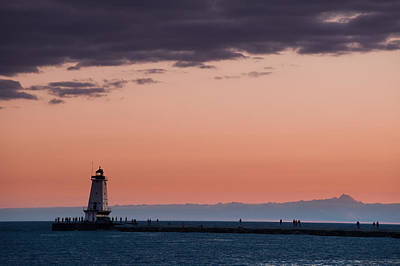 Architecture Photograph - Ludington North Breakwater Lighthouse by Sebastian Musial