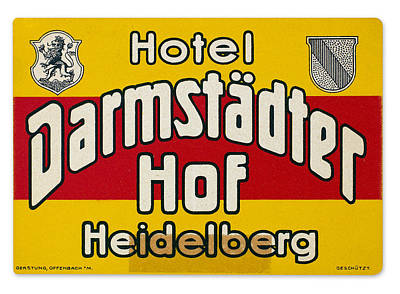 Luggage Label Print by Granger