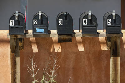 Mailboxes Santa Fe Nm Print by David Litschel