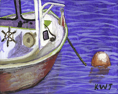 Maine Painting - Maine Lobster Boat by Keith Webber Jr