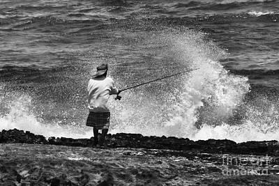 Man Versus The Sea Original by Mike  Dawson
