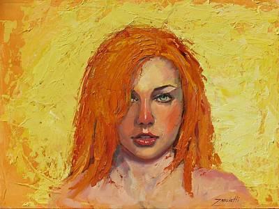 Heavy Woman Painting - Mandy by Laura Lee Zanghetti