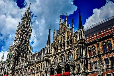 High Dynamic Range Photograph - Marienplatz In Munich by Joe  Ng