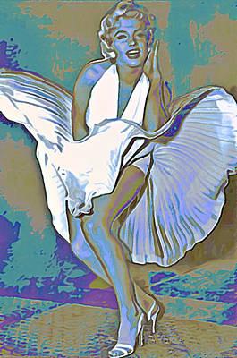Sex Digital Art - Marilyn Monroe  by  Fli Art