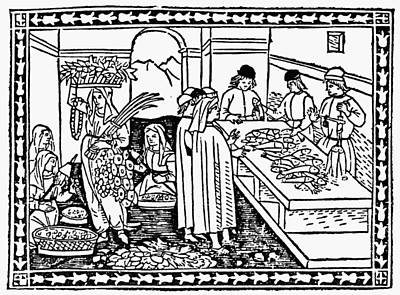 Market, 15th Century Print by Granger