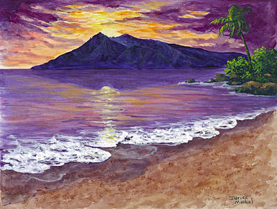 Impressionistic Landscape Painting - Maui Sunset by Darice Machel McGuire