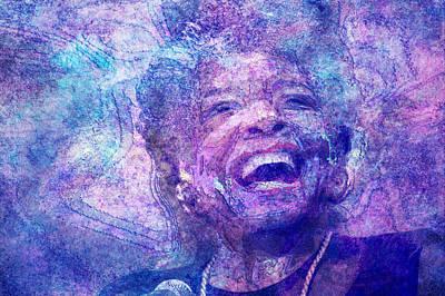 Maya Digital Art - Maya Angelou by D Walton