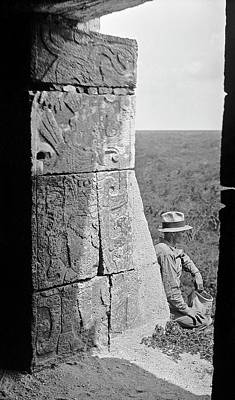 Carving Photograph - Mayan Temple Carvings by American Philosophical Society