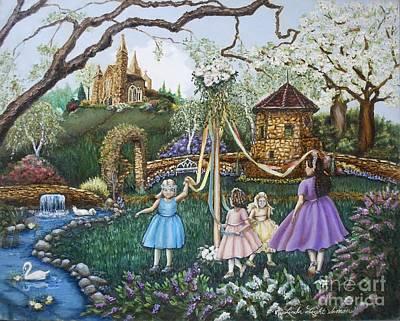 Of Toddlers Painting - Mayday Serenade  by Linda Simon