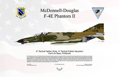F-101 Digital Art - Mcdonnell Douglas F-4e Phantom II by Arthur Eggers