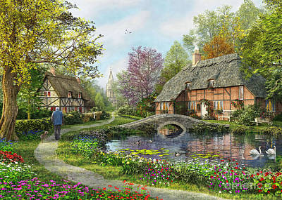 Europe Digital Art - Meadow Cottage by Dominic Davison