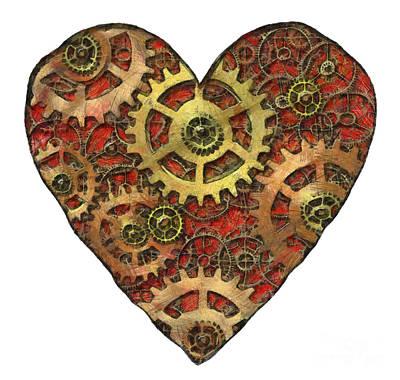 Mechanical Heart Print by Michal Boubin