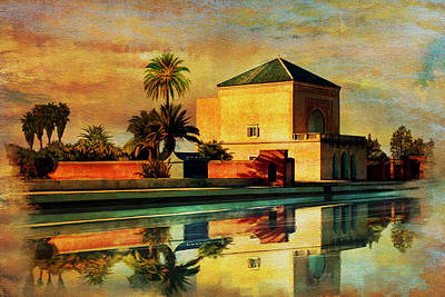 Rabat Painting - Medina Of Marakkesh by Catf
