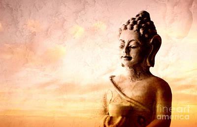 Loud Photograph - Meditating Buddha by Charline Xia