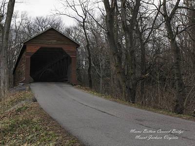 David E Lester Photograph - Meems Bottom Covered Bridge by David Lester