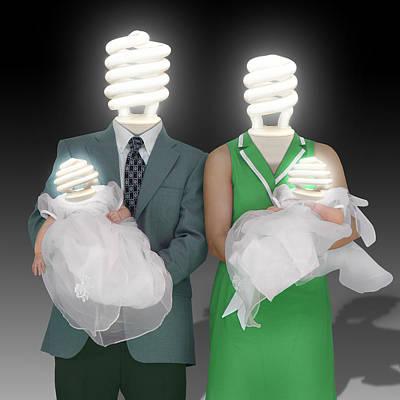 Baby Digital Art - Meet The Greens by Mike McGlothlen