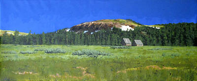 Pacific Crest Trail Painting - Meiss Meadow Tahoe Rim Trail by Richard Eaves Woods