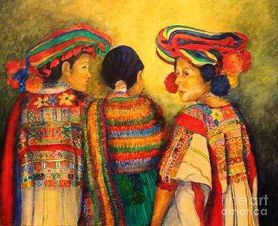 Painted Ladies Painting - Mexican Impression by Dagmar Helbig