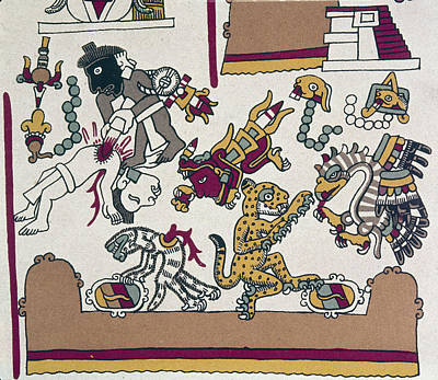 American Eagle Painting - Mexico Mixtec Manuscript by Granger