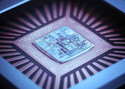 Microchip Photograph - Microchip by Ktsdesign