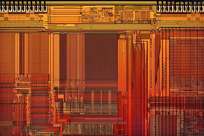 Microchip Photograph - Microprocessor Components by Antonio Romero