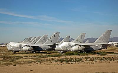 Salvage Photograph - Military Aircraft In Salvage Yard by Jim West