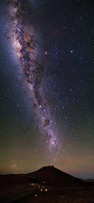 Milky Way Over Paranal Observatory Print by Babak Tafreshi