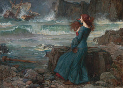 Sea Painting - Miranda by John William Waterhouse