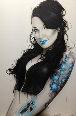 Portrait - 'miss Metal' Original by Christian Chapman Art