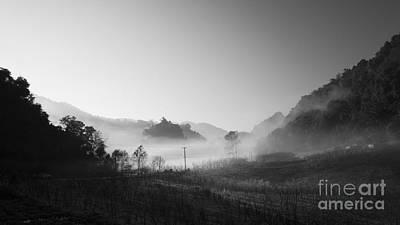 Park Scene Photograph - Mist In The Valley by Setsiri Silapasuwanchai