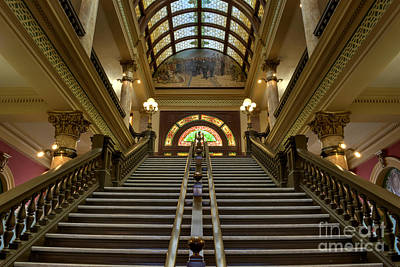 Vaults Photograph - Montana State Capitol by Juli Scalzi