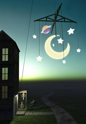 Moonrise Print by Cynthia Decker