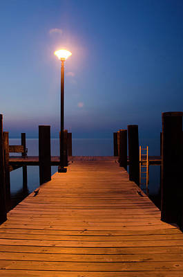 Wooden Platform Photograph - Morning On The Dock by Crystal Wightman