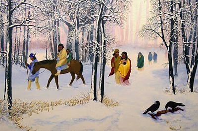 Indian Painting - Morning Tears by John Guthrie
