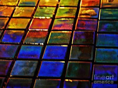 Iridescent Glass Photograph - Mosaic 13 by Sarah Loft