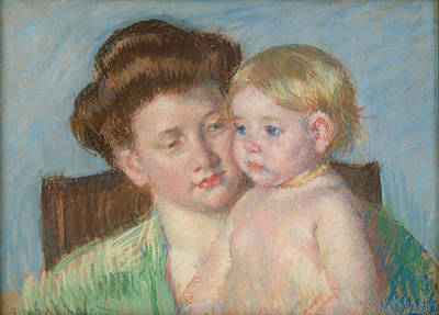 Self Portrait Drawing - Mother And Child by Celestial Images