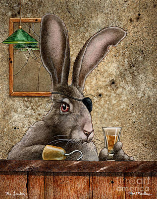 Hare Painting - Mr Lucky by Will Bullas