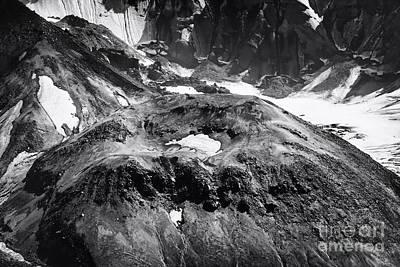 Snow Photograph - Mt St. Helen's Crater by David Millenheft
