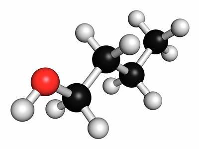 N-butanol Molecule Print by Molekuul