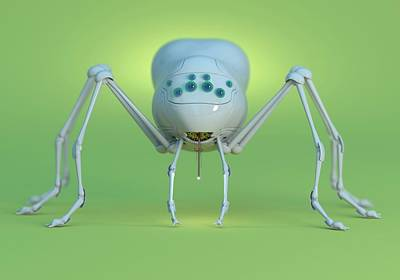Arachnid Photograph - Nanobot Spider by Tim Vernon
