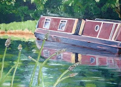 Narrowboat Original by Isabella Abbie Shores