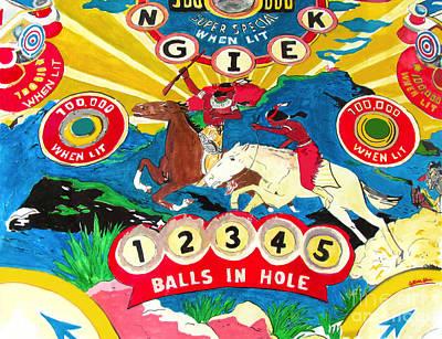 Native Pinball Original by Beth Saffer