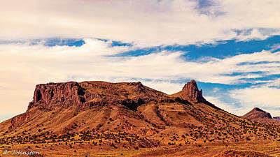 Navajo Nation Series Along 87 And 15 Print by Bob and Nadine Johnston