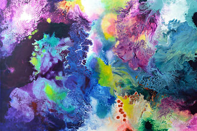 Microscopic Art Painting - New Life by Sally Trace