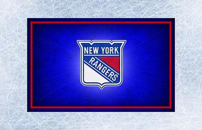 Hockey Photograph - New York Rangers by Joe Hamilton