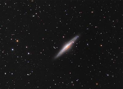 Planetary System Painting - Ngc 2683 Spiral Galaxy by Celestial Images