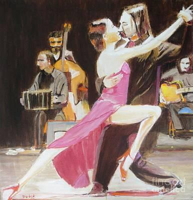 Music Painting - Night Rhythms by Judy Kay
