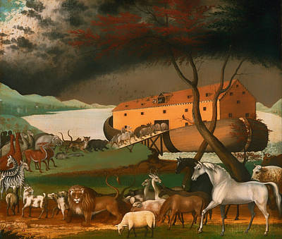 Noah Painting - Noah's Ark by Mountain Dreams